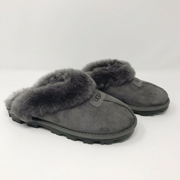 502aa1bd4d0 UGG Womens Coquette Clog Slippers Sheepskin Fleece